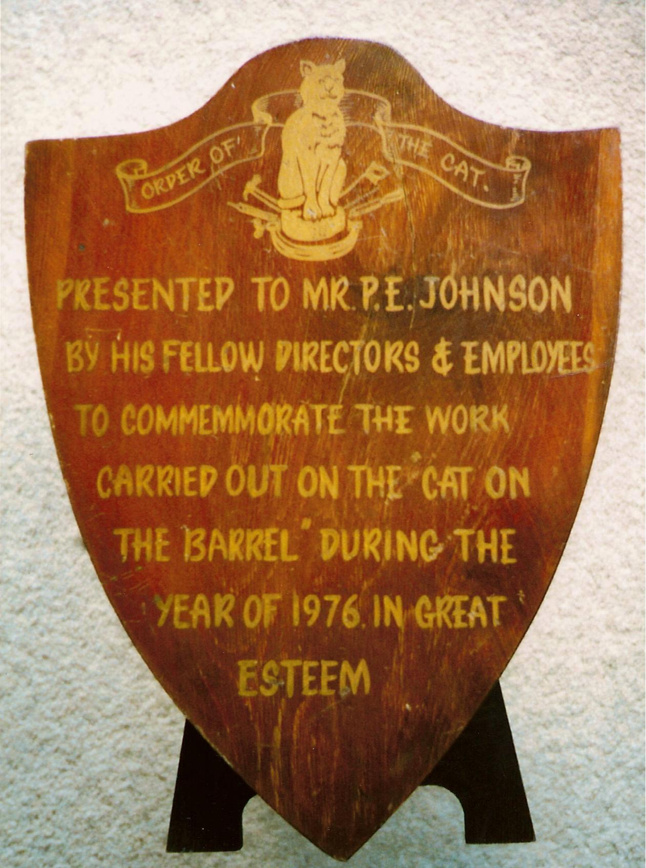 Johnson shield 1976