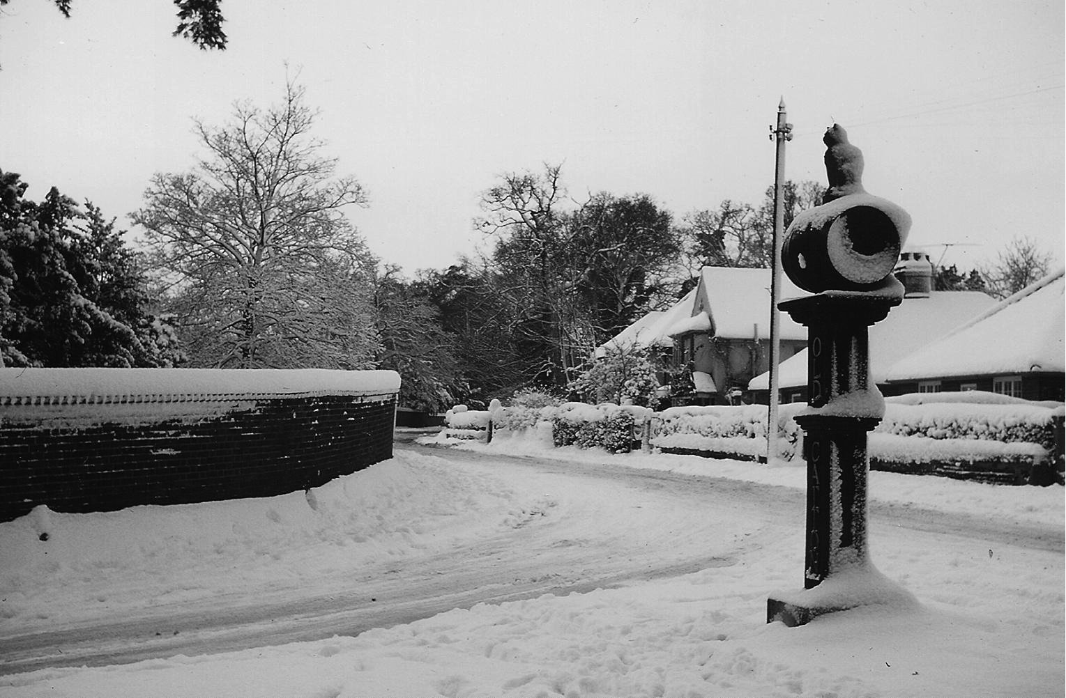 Snow at the junction - 1960s
