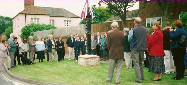 Unveiling of new sign May 2001