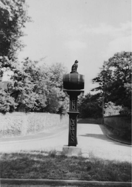 Original sign post-war at St Faiths Road junction