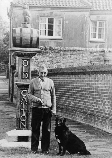 Bob Wrench and the village sign