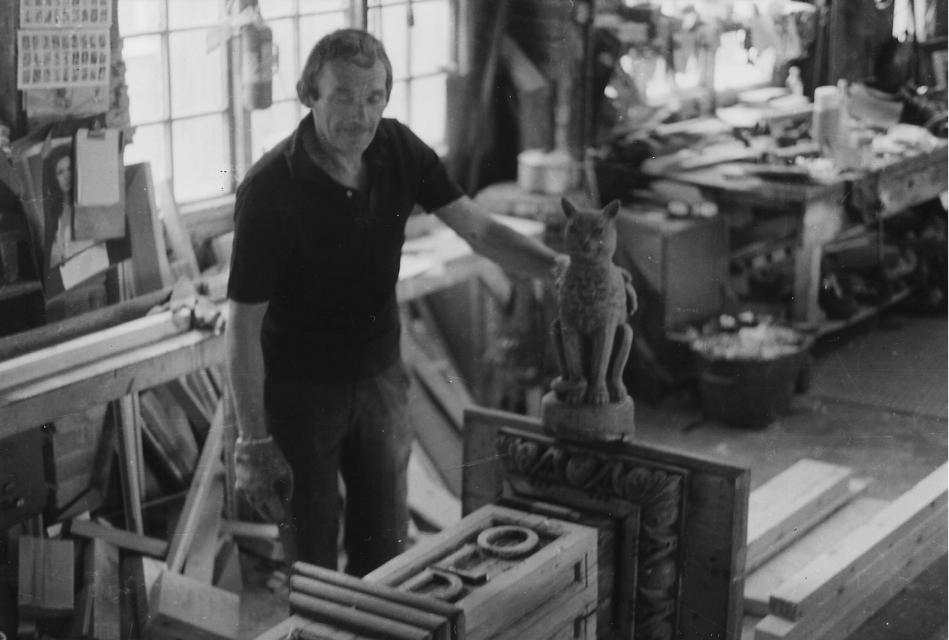 Under repair in Johnson's workshop  - 1976