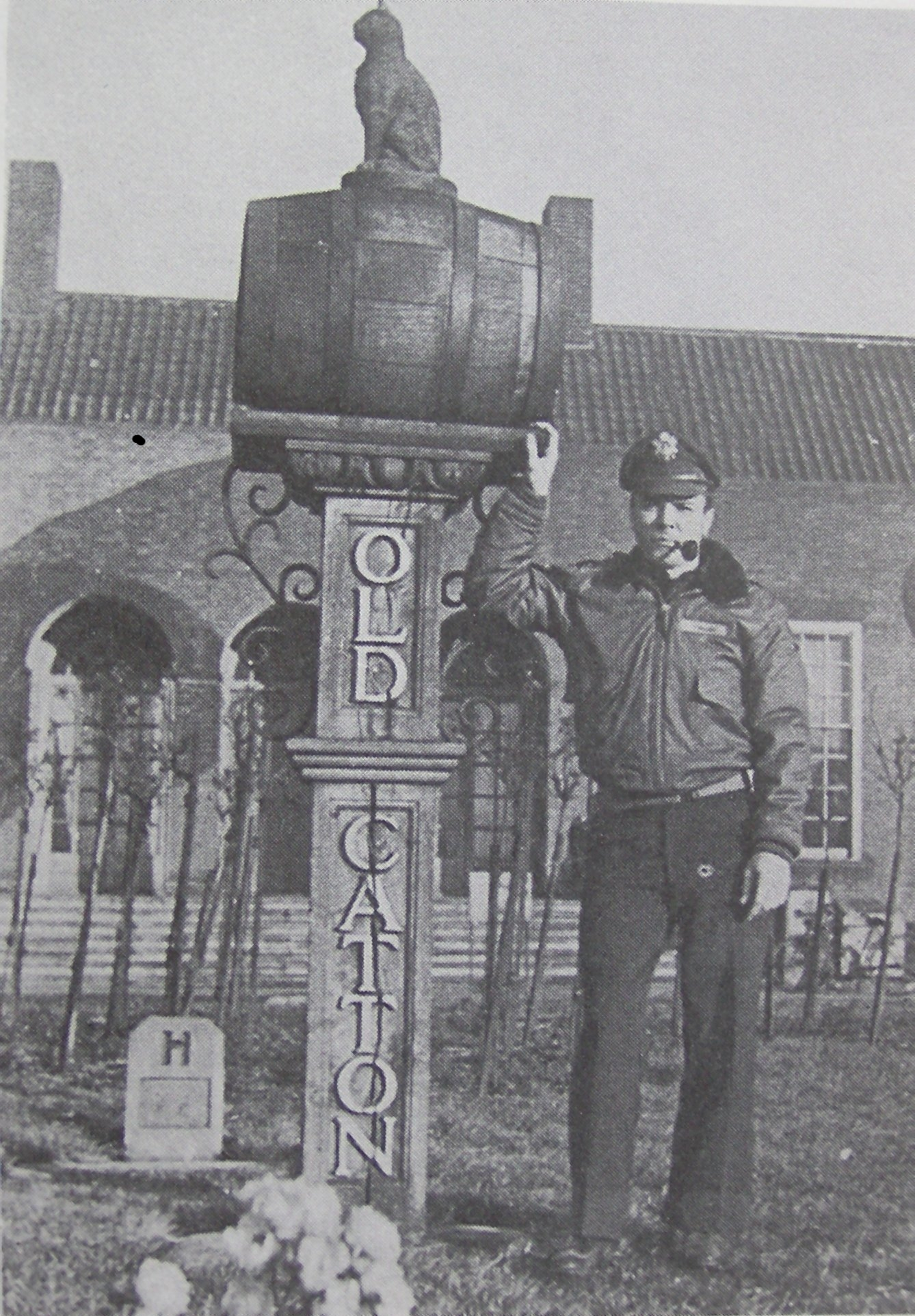 US Lt. Maurice Speer at RAF St Faiths officers mess