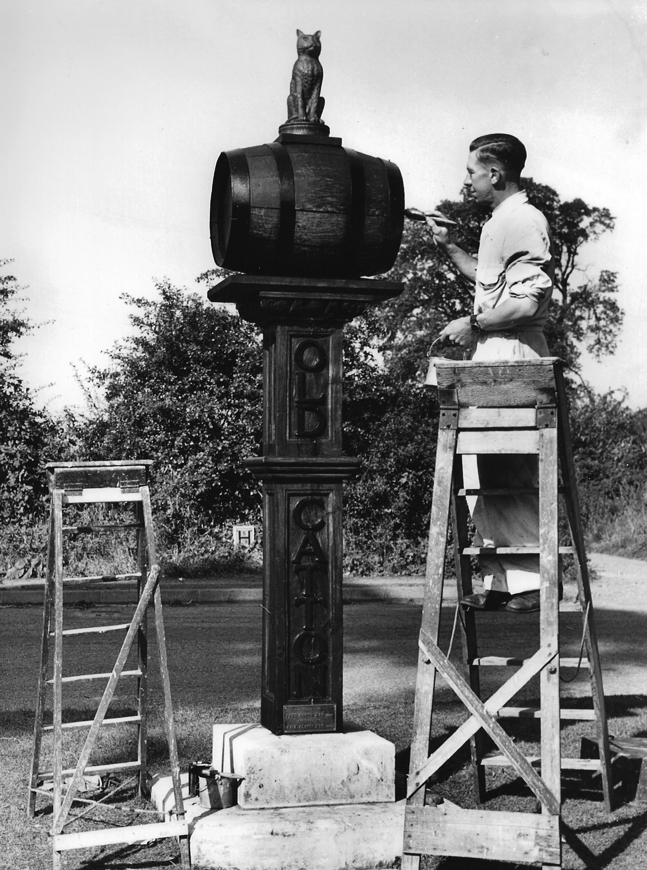 J. Wells repairs 1954