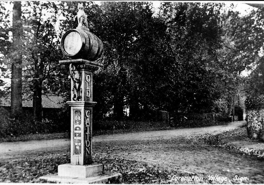 Original village sign