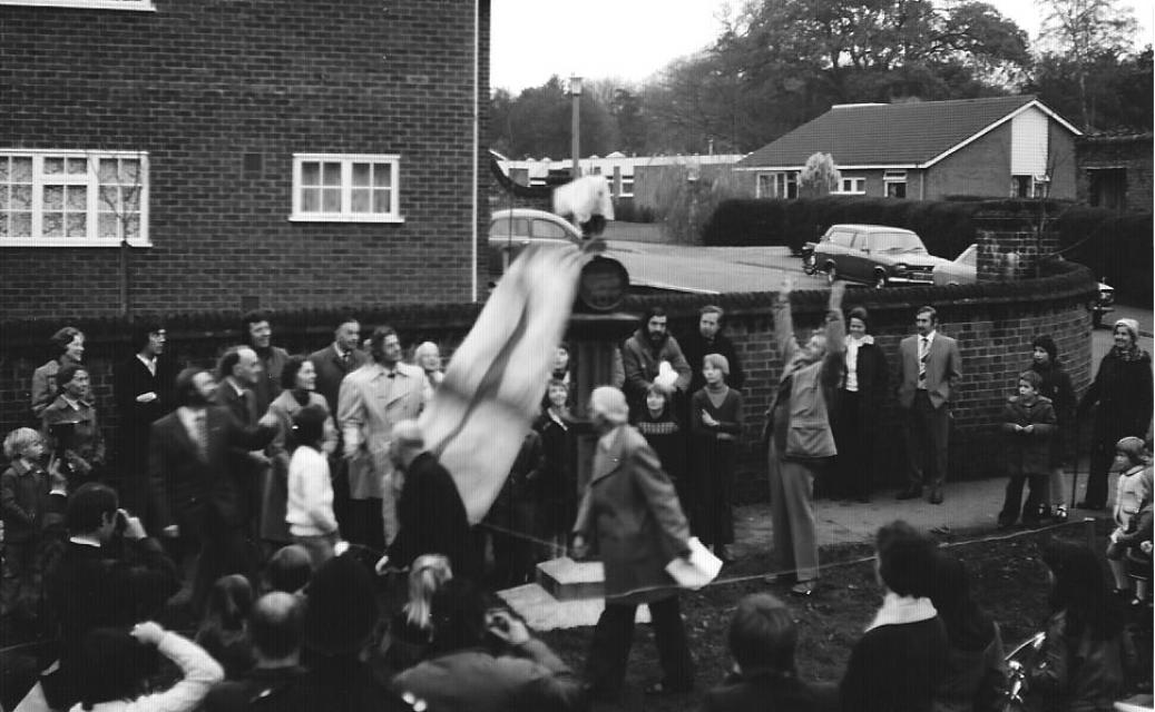 Renovated sign unveiling - 1976